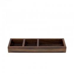 Palissander houten bakje met koper detail