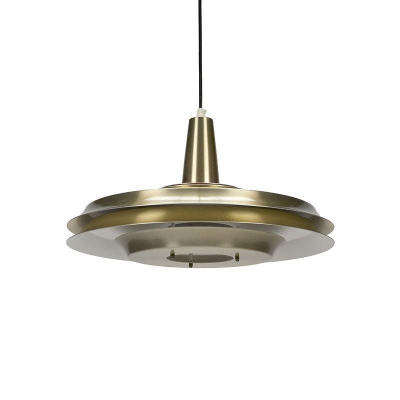 Danish brass hanging lamp