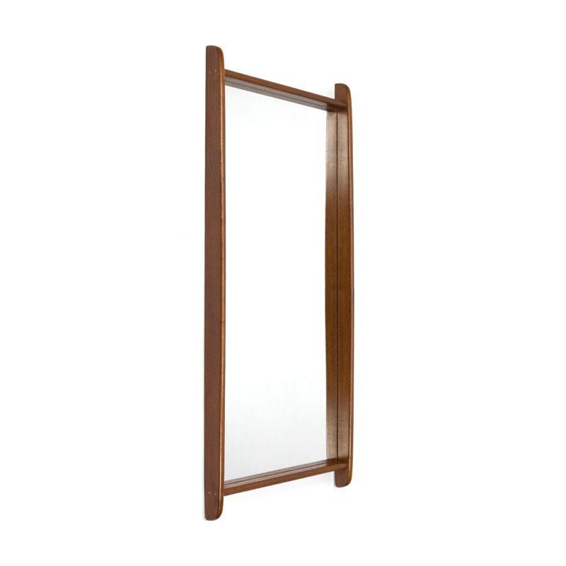 Deense design spiegel van teakhout