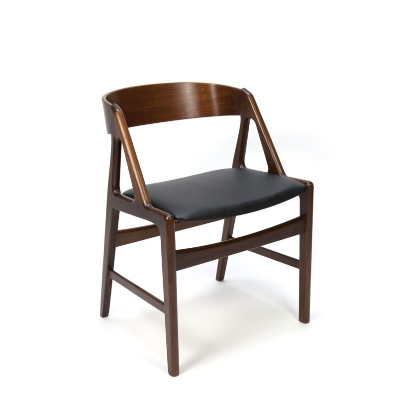 Danish design office chair with curved backrest