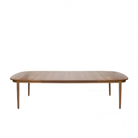Large Danish teak dining table up to 10 person