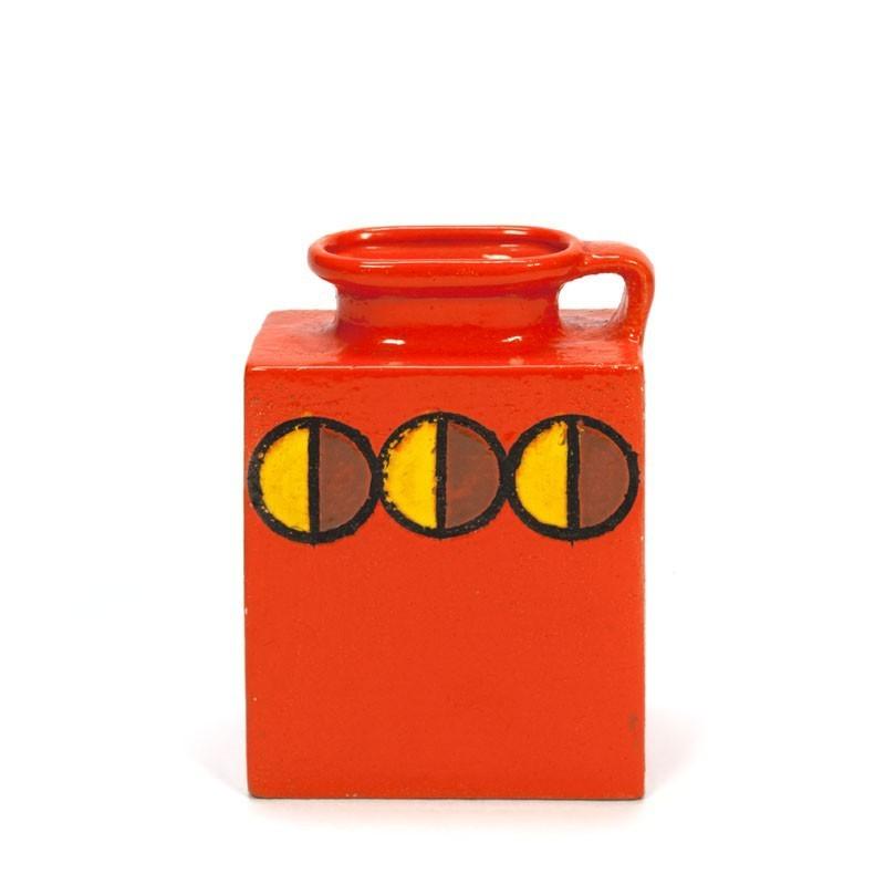 Oranje design vaas van aardewerk