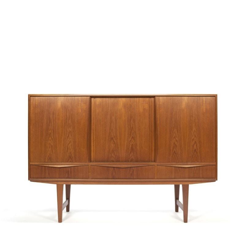 Deense teakhouten dressoir ontwerp E.W. Bach