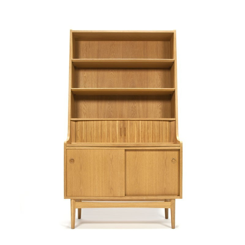Danish bookcase/ secretary in oak