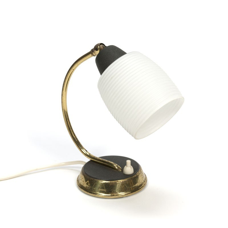 Small table lamp with glas shade