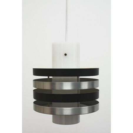 Plexiglazen hanglamp met alumnium schijven