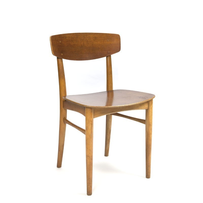 Danish wooden chairs set of 6