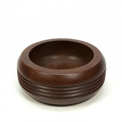 Teak bowl with rings