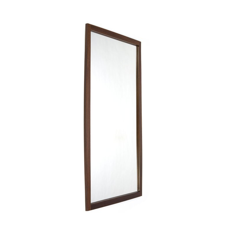 Danish mirror dark teak