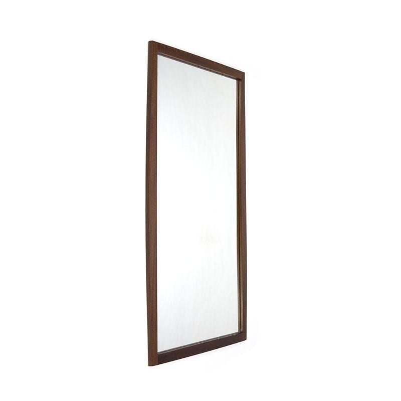 Deense spiegel donker teakhout