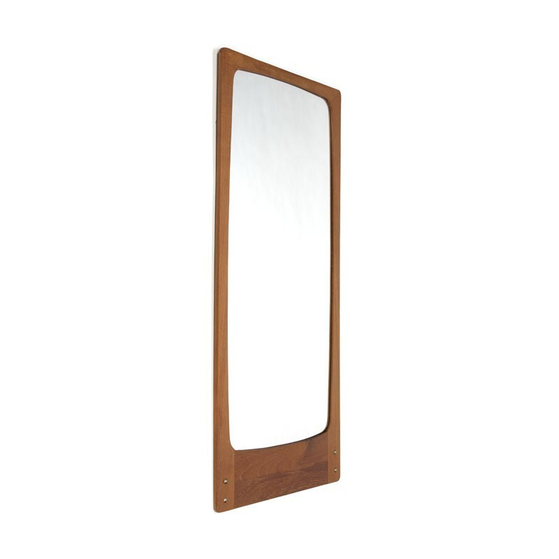 Danish mirror with brass detail