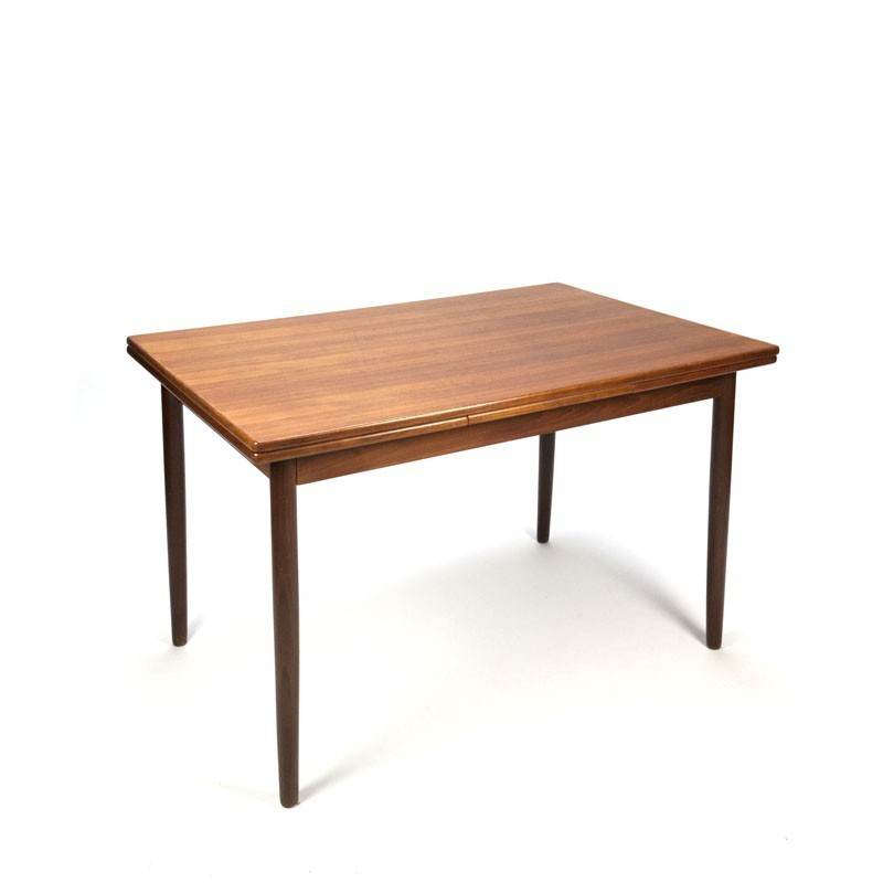 Small model Danish dining table in teak