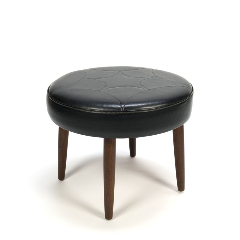 Danish stool with teak legs