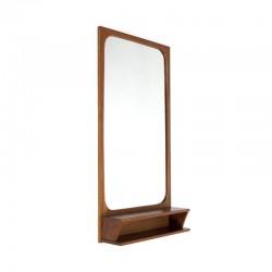 Deense teakhouten spiegel met opbergvakje
