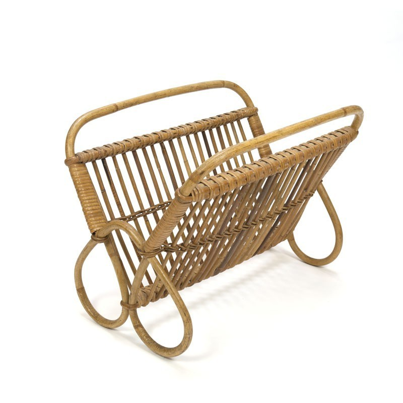 Bamboo magazine rack from the sixties