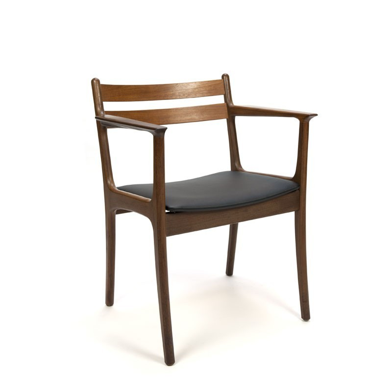 Luxe bureau of eettafel stoel van teakhout