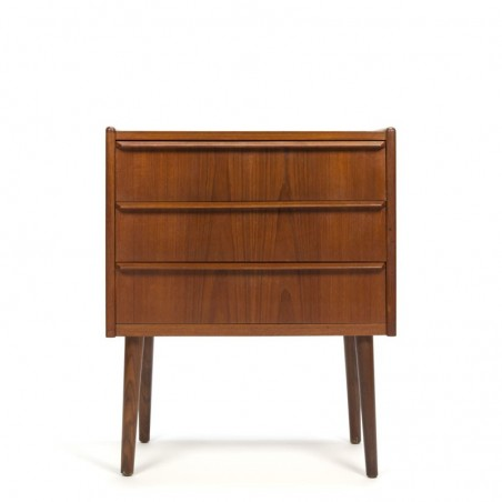 Danish Teak chest of drawers with three drawers