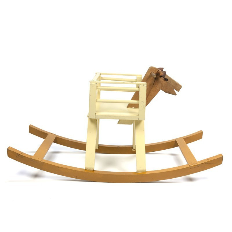 Wooden rocking horse from the sixties