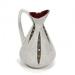Ceramic can/ vase with fifties design