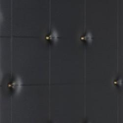 Kapstok met zwart gecapitonneerd skai