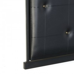 Coat rack with padded black leatherette