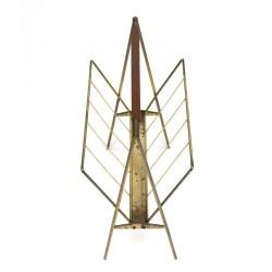 Brass colored design magazine rack