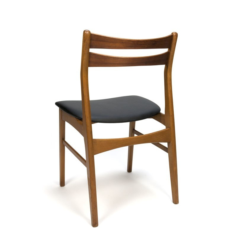 Set van 4 deense teakhouten stoelen merk faldsled retro for Merk stoelen