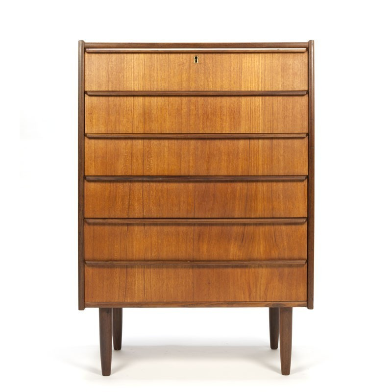 Danish dresser with 6 drawers in teak