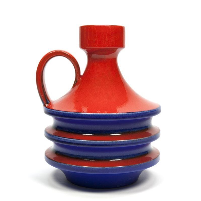 Orange with blue West-Germany vase