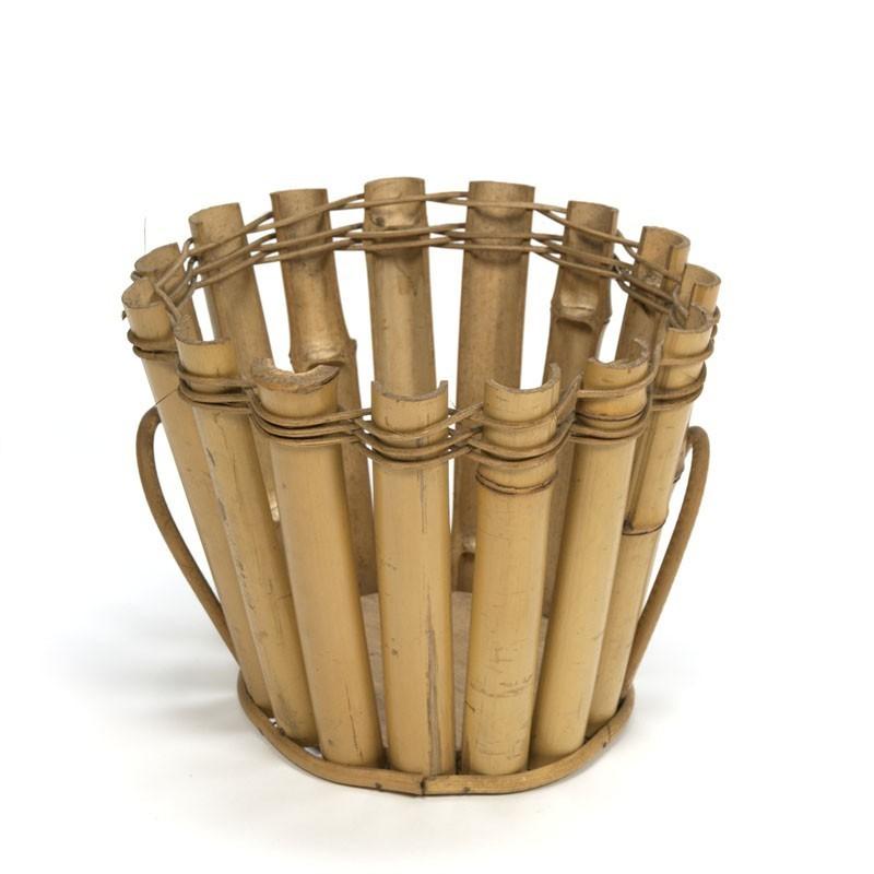 Big flowerpot holder of bamboo