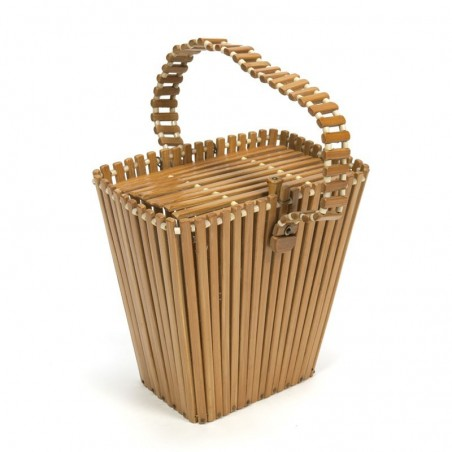 Handbag made of Bamboo from the sixties