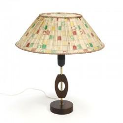 Tafellamp met bijzondere klem lampenkap