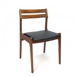 Set of 6 Danish teak dining table chairs