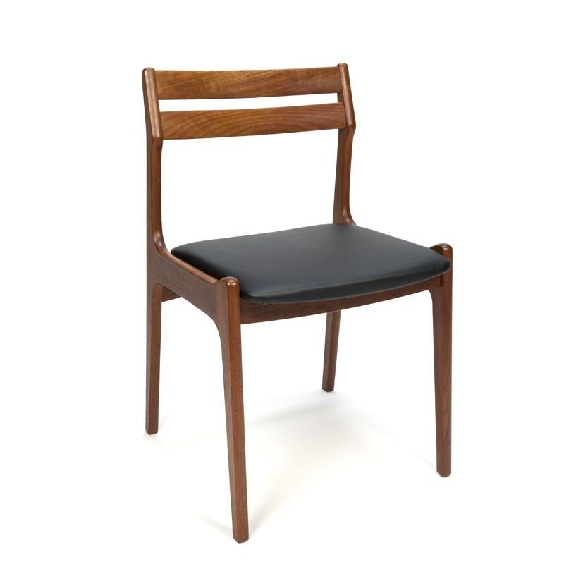 Set van 6 Deense teakhouten eettafel stoelen