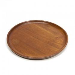 Platte schaal/ bord van teakhout