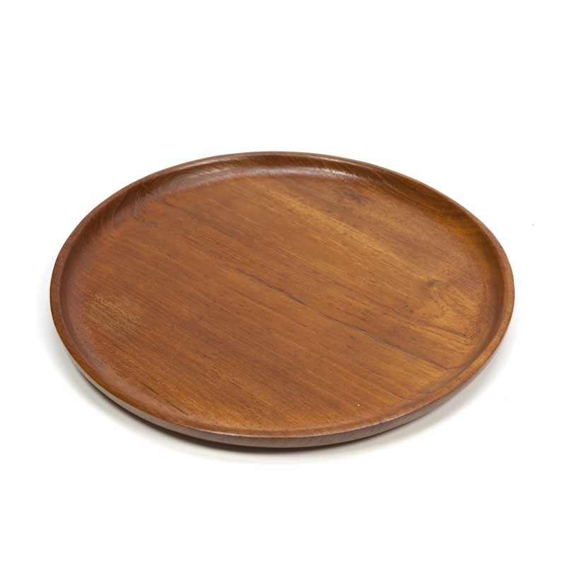 Flat bowl / plate of teak