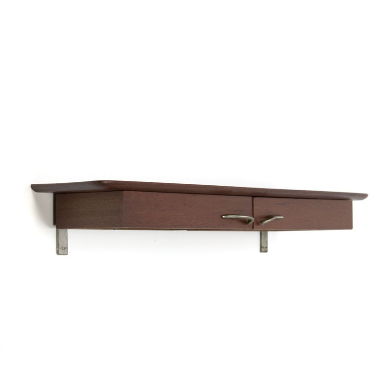 Danish wall mounted cabinet with 2 small drawers
