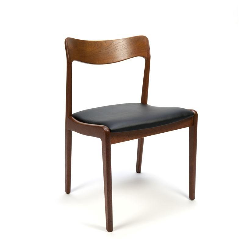 Set van 6 luxe Deense teakhouten stoelen