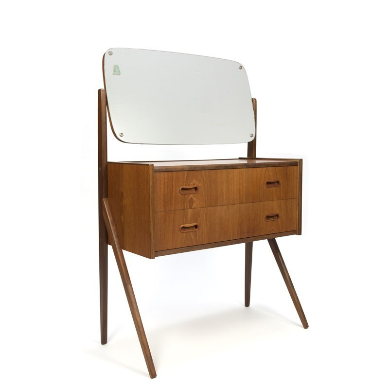 Danish dressing table with large mirror
