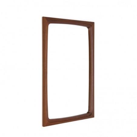 Danish mirror teak rectangle model