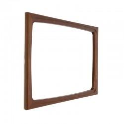 Deense spiegel van teakhout rechthoek model