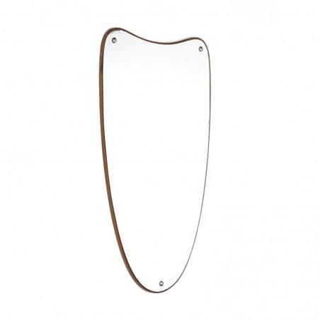Danish organic shaped mirror