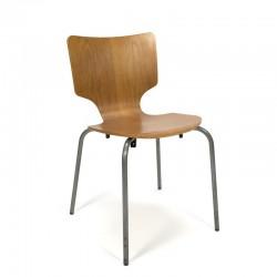 Danish industrial oak chair