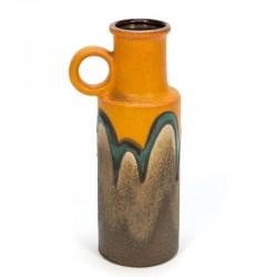 Orange/ brown Scheurich vase