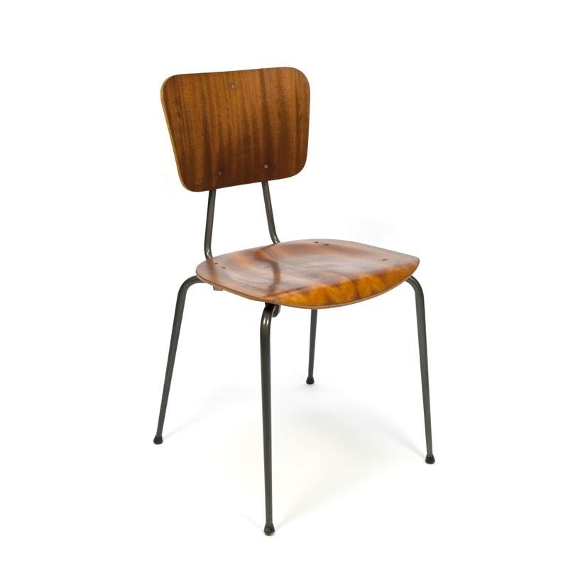 set van 6 industriële stoelen - retro studio