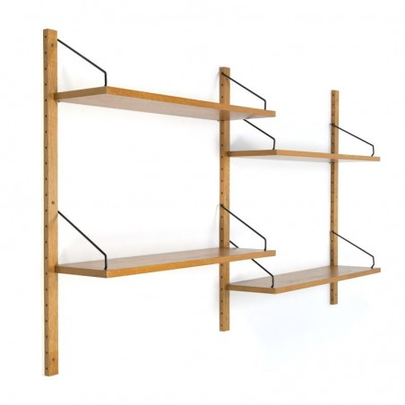 Oak wall system by Poul Cadovius