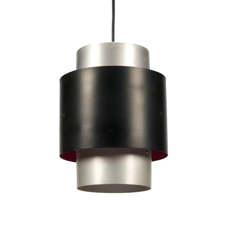 Vintage aluminum tube pendant