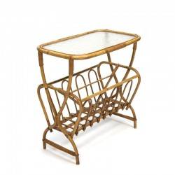 Vintage side table made of bamboo
