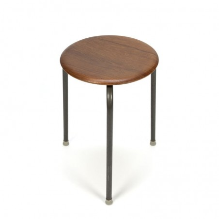 Vintage stool with wooden seat