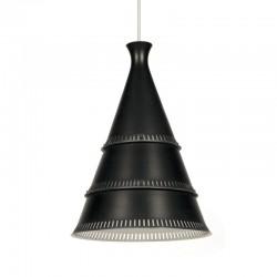 Deense zwart metalen kegel hanglamp